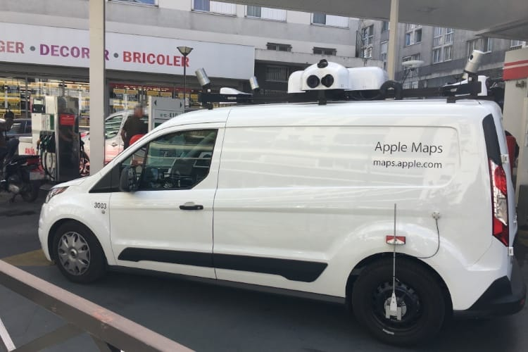 Les camionnettes Apple Maps roulent au Japon