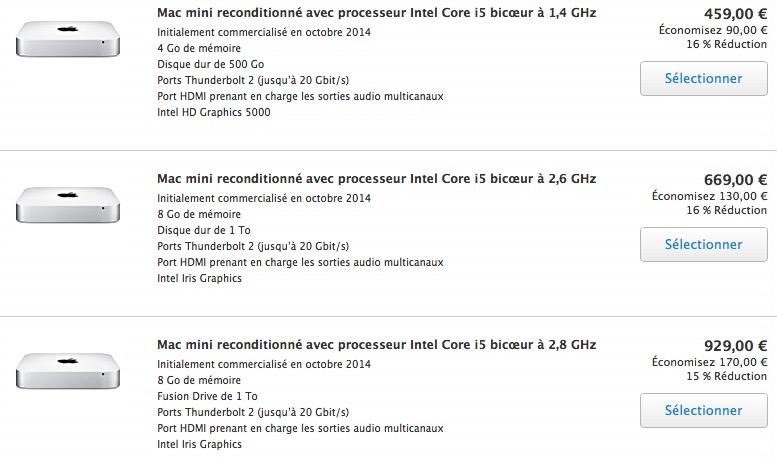 Refurb : Apple TV 4K à 169 €, iPad Pro à 529 €, Mac mini à