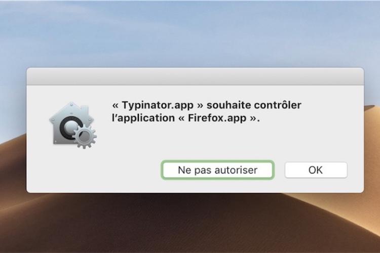 macOS Mojave : nouvelle cascade de demandes d'autorisation pourl'utilisateur