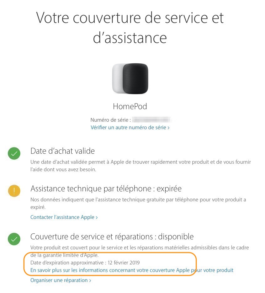 Comment vérifier l'état de la garantie de vos produits Apple