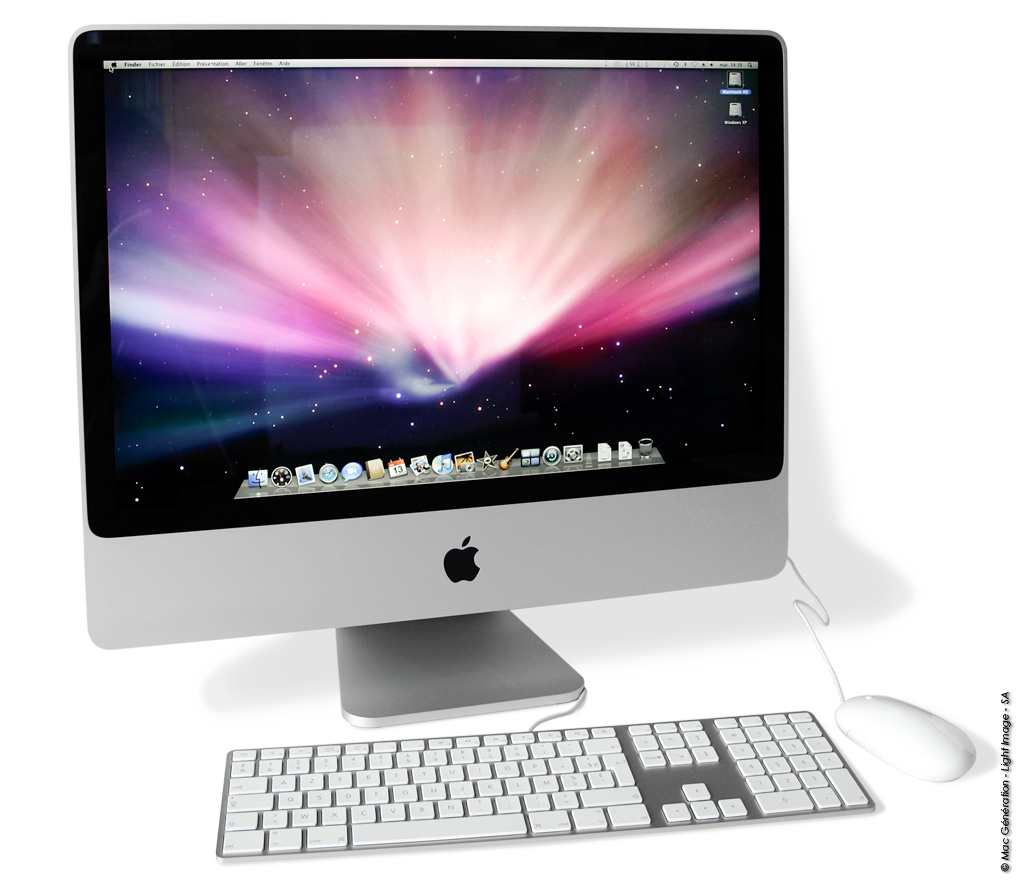 test de l 39 imac 24 pouces 3 06 ghz 2008 macgeneration. Black Bedroom Furniture Sets. Home Design Ideas