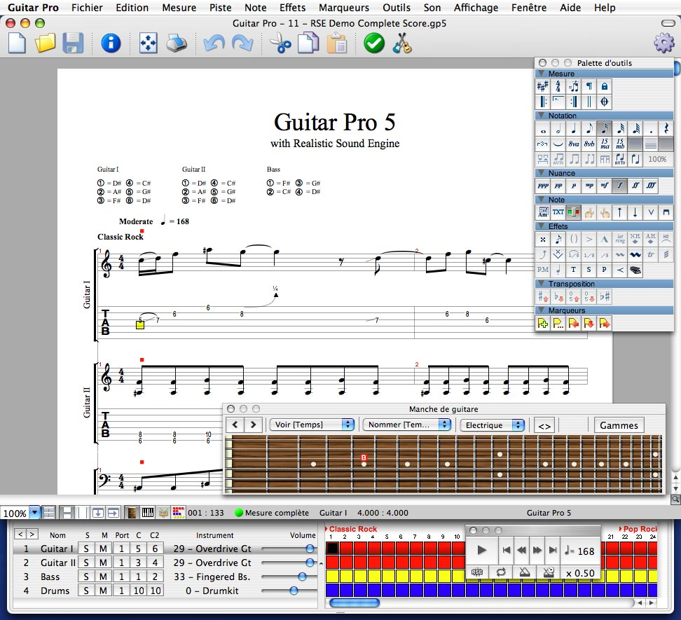 partition guitare pro 4