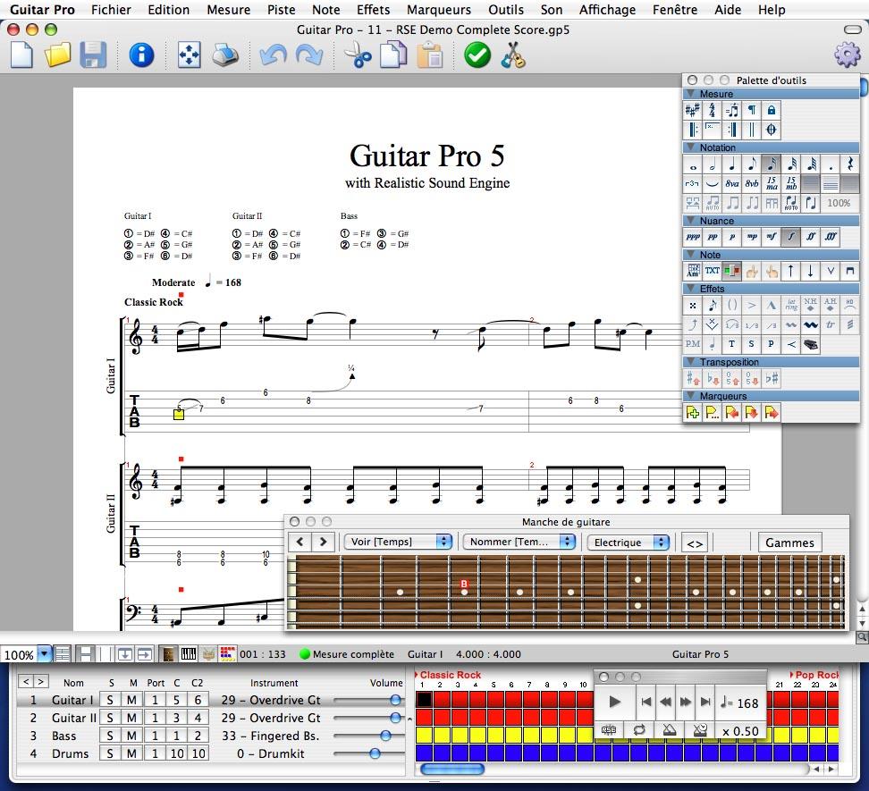 partition guitare pro 6 gratuite
