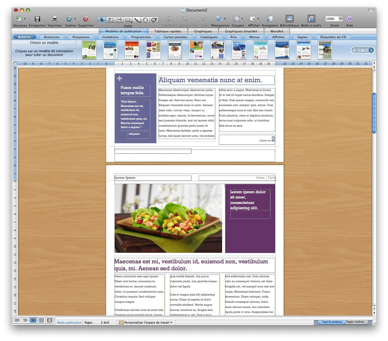 test de microsoft word 2008