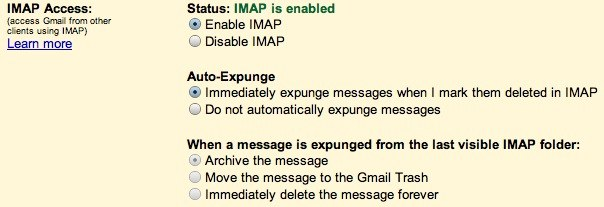 gmailimapsettingslabs
