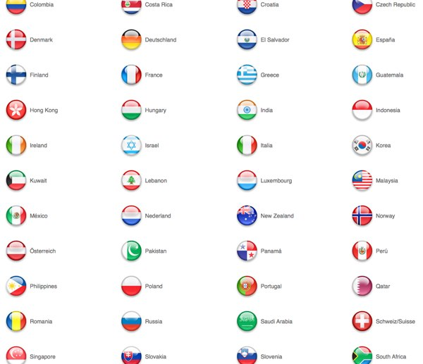 tout les drapeaux du monde avec leur nom en anglais