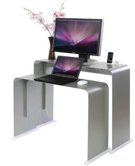 un bureau en alu pour votre mac | macgeneration - Meuble Pc Design