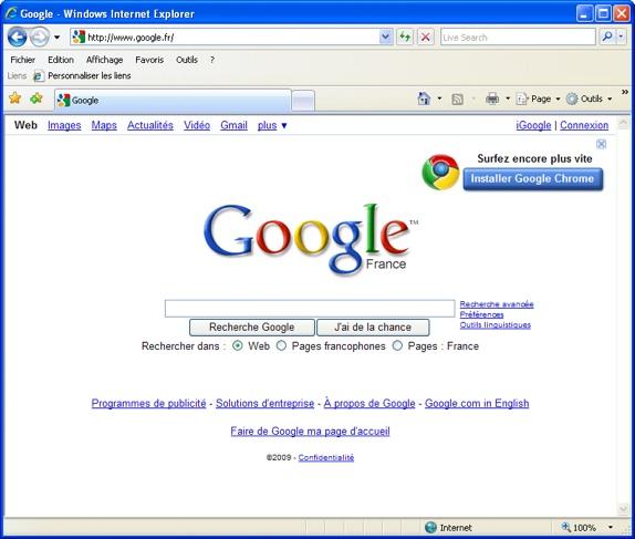 Google Veut Faire Switcher Les Utilisateurs D Internet Explorer