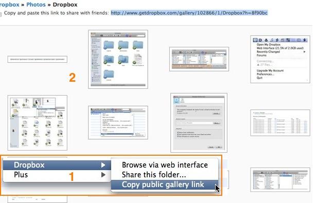 Dropbox galeries
