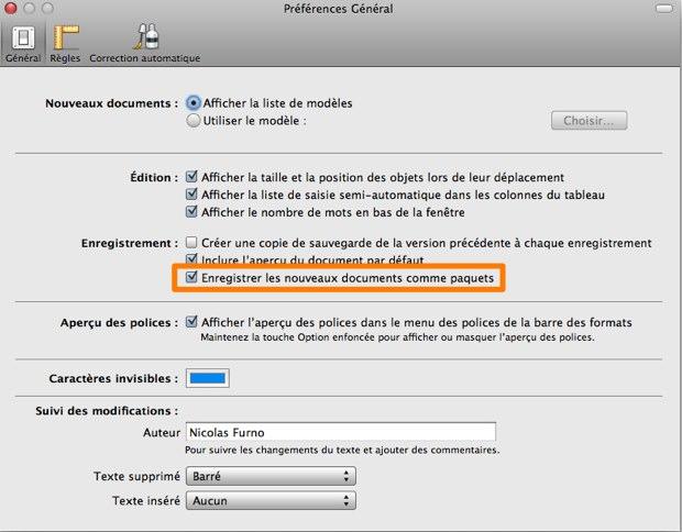 Dropbox paquets iWork