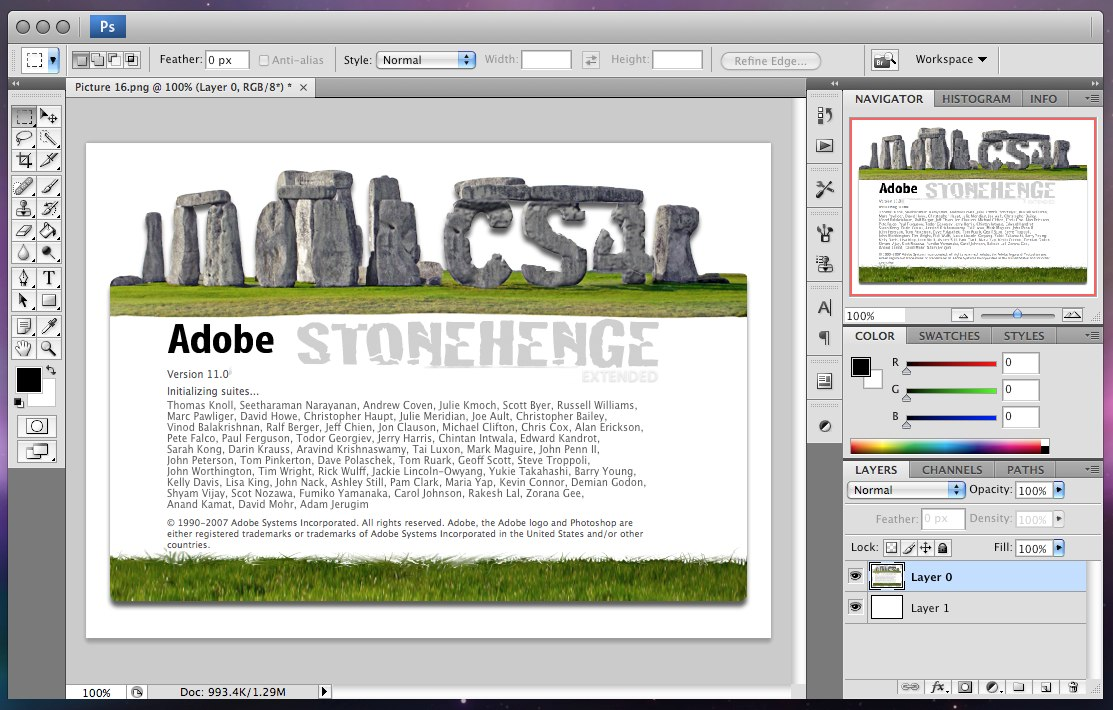 adobe photoshop cs4 stonehenge