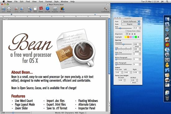 application de traitement de texte pour mac