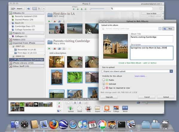 Picasa pour Mac disponible (en béta et en vidéo)